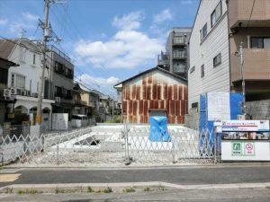 京都市北区の基礎工事の現場