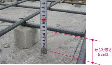 かぶり厚さ:基礎底板